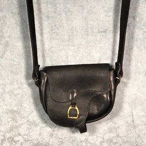 Vintage Crossbody Leather Small Equestrian Bag
